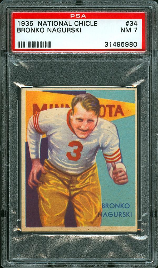 Bronko Nagurski 1935 football card