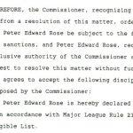 Pete Rose MLB ban agreement