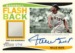 2013 Heritage Willie Mays autograph