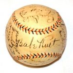 Autographed Yankees ball 1934