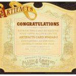 Artifacts Allen Ginter redemption box topper