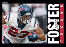Arian Foster 2013 Archives 1985 Topps design