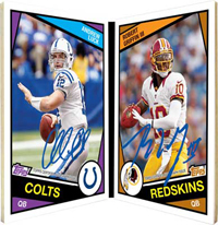 Andrew Luck-Robert Griffin 2013 Archives football auto