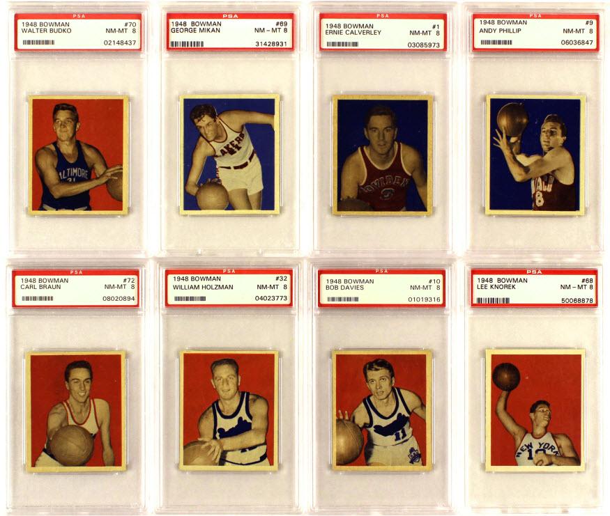 Bowman 1948-49 basketball set