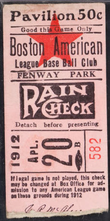 1912 Opening Game Fenway Park
