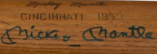 1953 Mickey Mantle All Star Game Bat