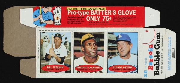 Bazooka baseball 1971 box