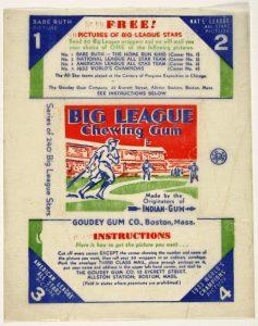 Goudey wrapper 1933