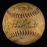 Autographed 1927 World Series baseball