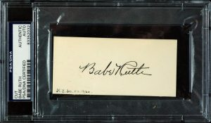 Signed Babe Ruth cut auto