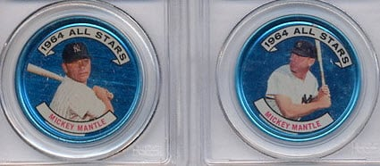 Mickey Mantle 1964 Topps coins