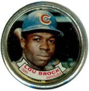 1964 Topps Lou Brock coin