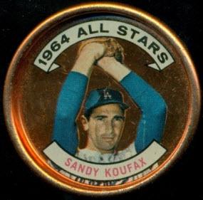 Sandy Koufax 1964 Topps coin