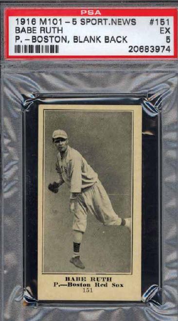 Babe Ruth M101-5