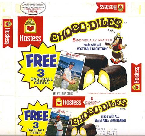 Hostess 1978 baseball box