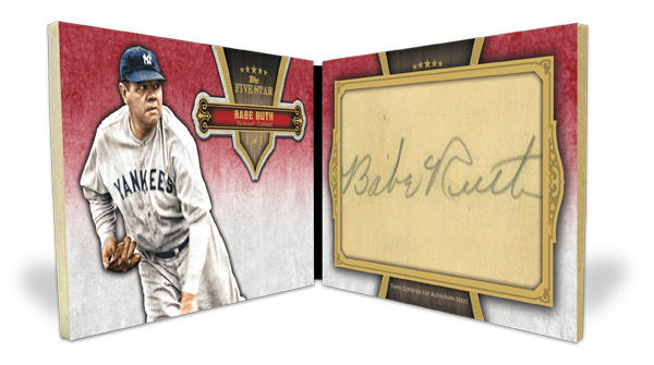 Babe Ruth auto Topps 2012 Five Star