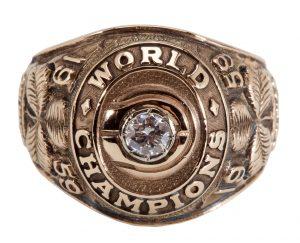 Sam Jones 1959 NBA championship ring
