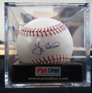 Autographed Yogi Berra baseball PSA DNA