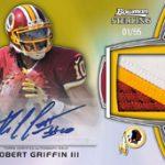 Robert Griffin III autographed rookie relic