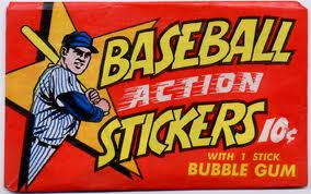 1968 Topps Action Stickers pack