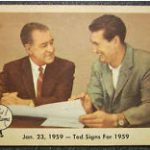 Ted Williams card 68 1959 Fleer