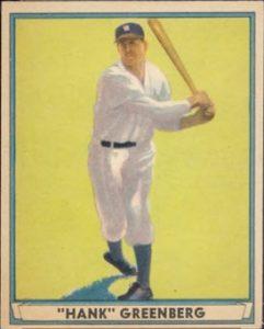 Hank Greenberg 1941 Play Ball card