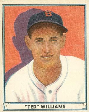 Ted Williams 1941 Play Ball card