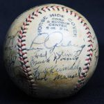 Signed 1929 Yankees ball Gehrig
