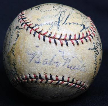 Yankees 1929 signed baseball