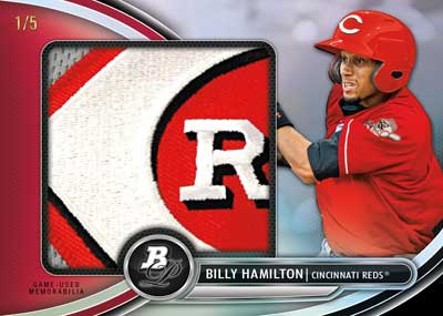 Billy Hamilton 2013 Bowman platinum Jumbo patch
