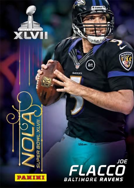 Joe Flacco 2013 Super Bow card
