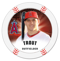 Mike Trout Topps Chipz