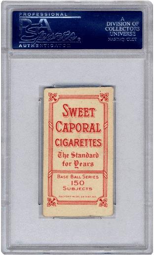 Sweet Caporal T206 Wagner PSA 5 back