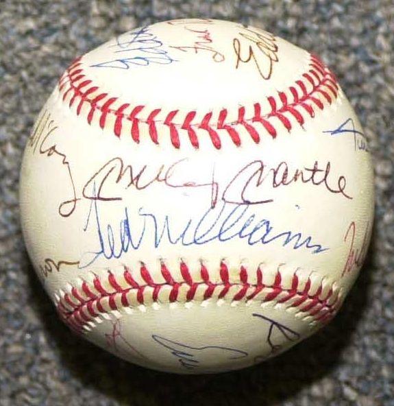 Mantle-William forged baseball