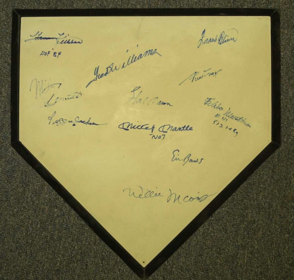 home plate with combo forgeries
