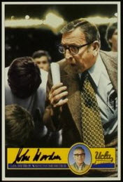Autographed John Wooden card