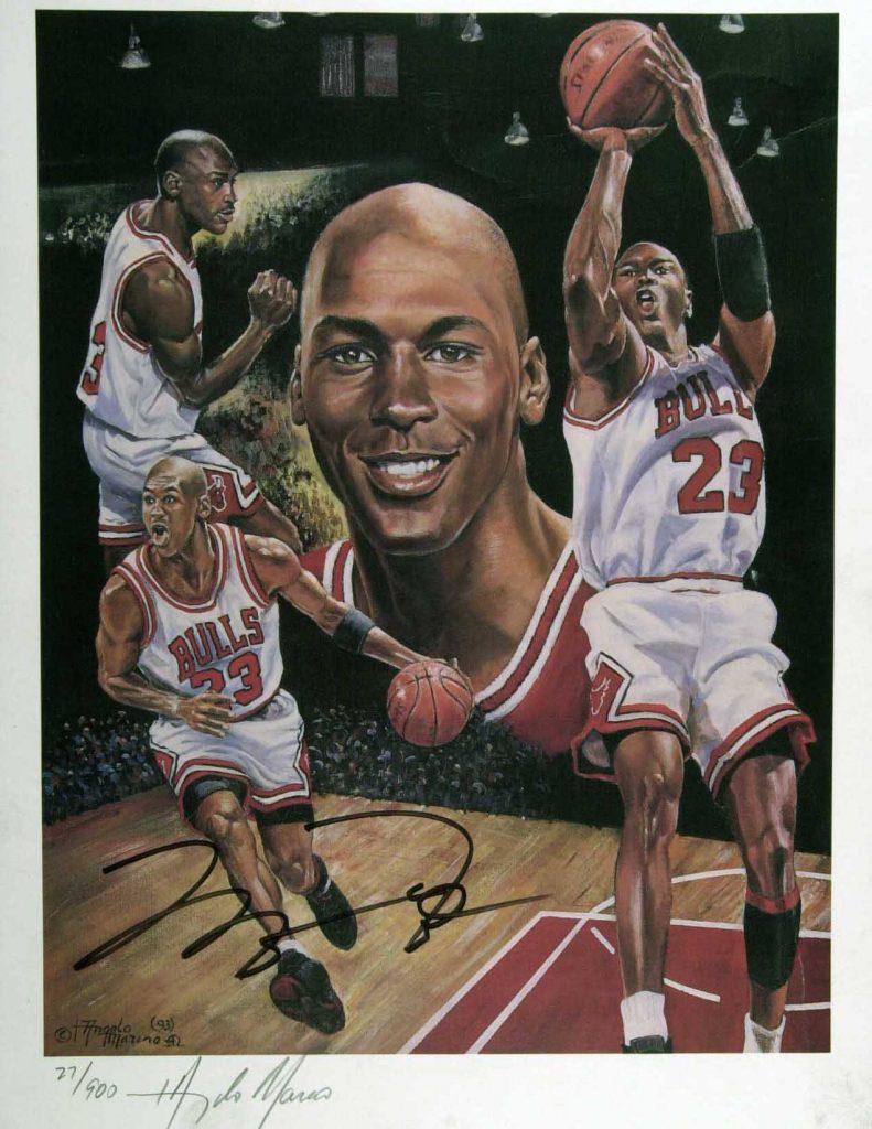 Michael Jordan litho forgery