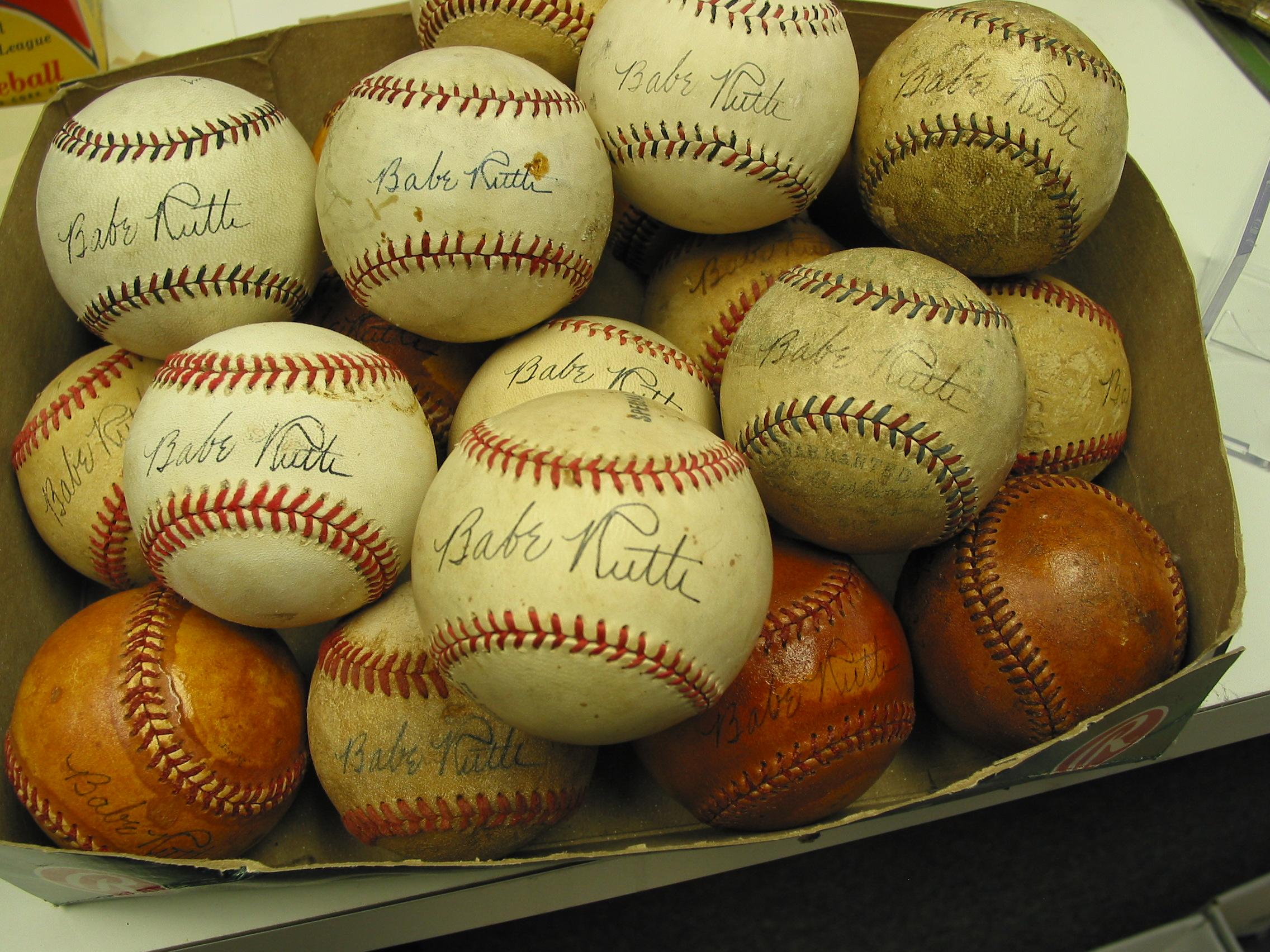 Fake Ruth baseballs