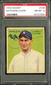 Nap Lajoie 1933 Goudey