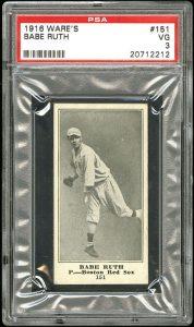 1916 Babe Ruth Wares