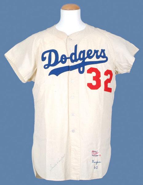 Game worn Sandy Koufax jersey