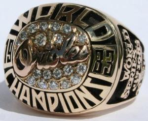 Baltimore Orioles 1983 World Series ring