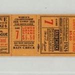 World Series ticket 1924