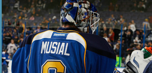 Stan Musial St. Louis Blues jersey