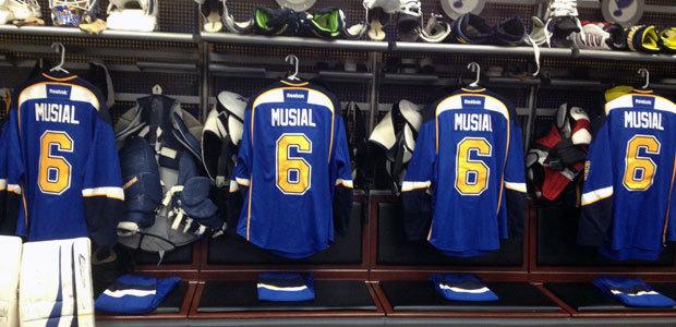 Stan Musial jerseys St. Louis Blues