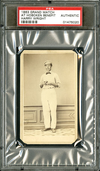 Harry Wright 1863 Grand Match card