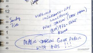 Magic Johnson AIDS declaration Arthur Ashe