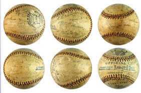 Signed Detroit Tigers ball 1915