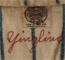 Earl Yingling jersey stitching