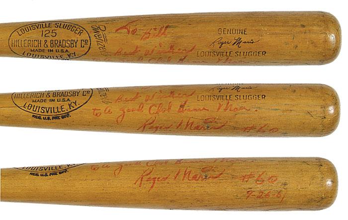 Autographed Roger Maris bat